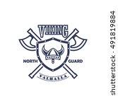 viking badge | Shutterstock .eps vector #491819884
