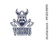 viking badge | Shutterstock .eps vector #491819890