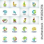 set of internet letter logo... | Shutterstock . vector #491826256