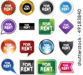 for rent   Shutterstock . vector #49183840
