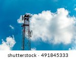 clouds in the blue sky | Shutterstock . vector #491845333