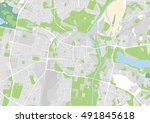 vector city map of poznan ... | Shutterstock .eps vector #491845618
