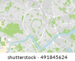 vector city map of krakow ... | Shutterstock .eps vector #491845624
