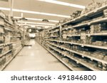 blurred image of supermarket... | Shutterstock . vector #491846800