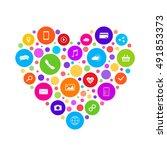 omni channel icon design. e... | Shutterstock .eps vector #491853373