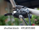gear shifter  close up  | Shutterstock . vector #491855380