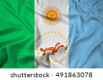 waving flag of chaco province ... | Shutterstock . vector #491863078