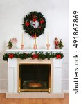Decorated Fireplace For...