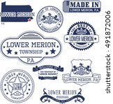 set of generic stamps and signs ... | Shutterstock .eps vector #491872006