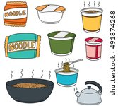 vector set of noodle | Shutterstock .eps vector #491874268