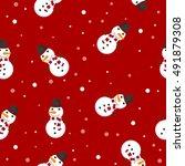 snowman vector illustration... | Shutterstock .eps vector #491879308
