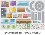 set of landscape elements. city ... | Shutterstock .eps vector #491879350
