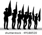 Drawing Of A Soldier On Parade. ...