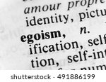 Small photo of Egoism