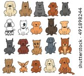 vector set of dog | Shutterstock .eps vector #491898244