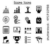 score icons | Shutterstock .eps vector #491910988