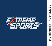 extreme sports logo. logo for... | Shutterstock .eps vector #491922310