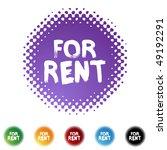 for rent | Shutterstock .eps vector #49192291