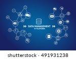 data management platform  dmp ... | Shutterstock . vector #491931238