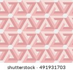 illusion triangles pattern | Shutterstock .eps vector #491931703