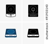 induction cooktops | Shutterstock .eps vector #491933140