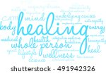 healing word cloud on a white...   Shutterstock .eps vector #491942326