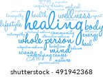 healing word cloud on a white... | Shutterstock .eps vector #491942368