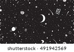night sky. space with stars and ...   Shutterstock .eps vector #491942569
