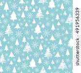 holiday pattern  christmas... | Shutterstock .eps vector #491956339