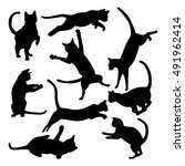 Collection Of Cats Silhouettes...