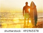 surfing. | Shutterstock . vector #491965378