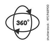 360 degrees symbol | Shutterstock .eps vector #491968900