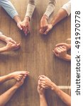 top view of business people... | Shutterstock . vector #491970778