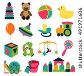 vector illustration of baby's... | Shutterstock .eps vector #491971606