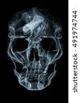 Human Skull Made Of Smoke....