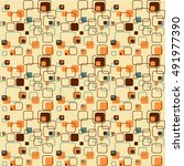 retro vintage wallpaper pattern ... | Shutterstock .eps vector #491977390