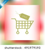 sale shopping icon | Shutterstock .eps vector #491979193