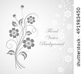 simple floral background in... | Shutterstock .eps vector #491983450