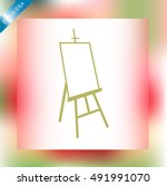 easel vector icon | Shutterstock .eps vector #491991070