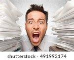 emotional stress. | Shutterstock . vector #491992174