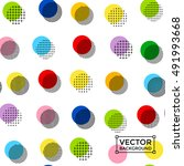 colorful circles modern... | Shutterstock .eps vector #491993668