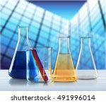 test tube. | Shutterstock . vector #491996014