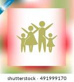 family vector icon | Shutterstock .eps vector #491999170