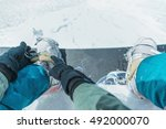 unrecognizable man putting on... | Shutterstock . vector #492000070