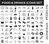 food and drink icons set | Shutterstock .eps vector #492001150