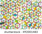 colorful geometric backdrop | Shutterstock . vector #492001483