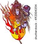 lord shiva   shiva  sanskrit ... | Shutterstock .eps vector #492004354