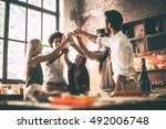 cheers to best friends  low... | Shutterstock . vector #492006748