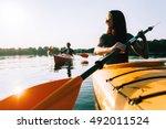 Kayaking Together. Beautiful...