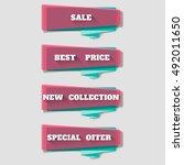 sale banner design. vivid... | Shutterstock .eps vector #492011650